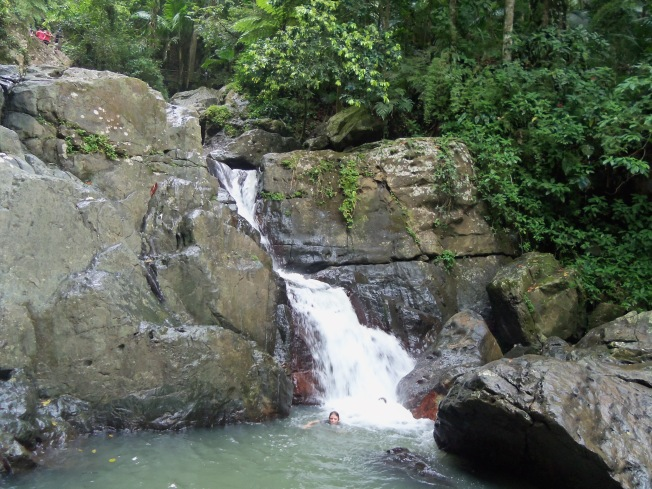 El Yunque Rainforest - swimming in La Mina Falls
