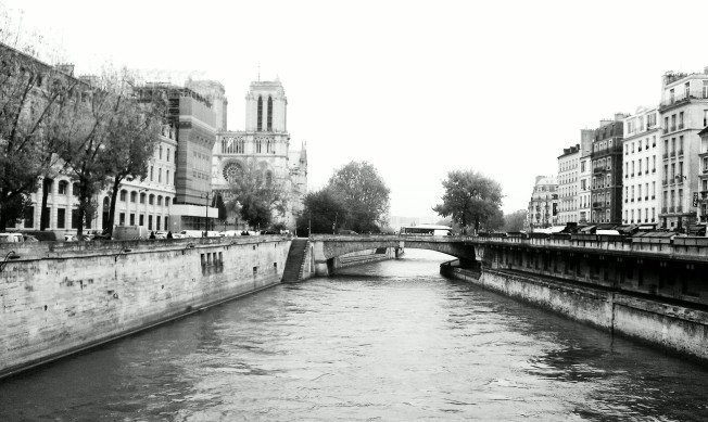 The River Seine and the stairs to nowhere.