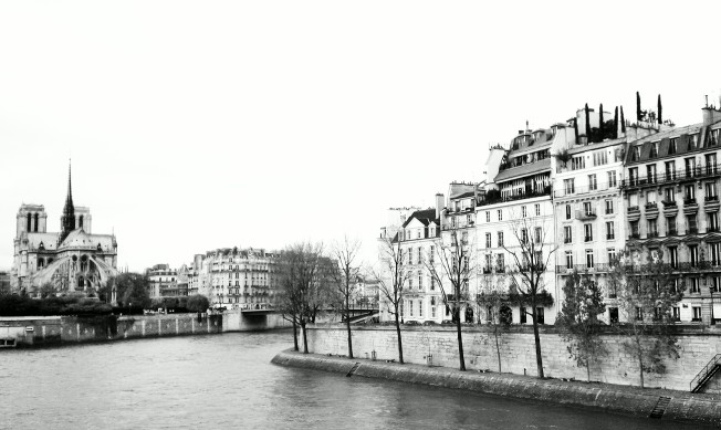 Pont St. Louis from Ile St. Louis to Notre Dame.