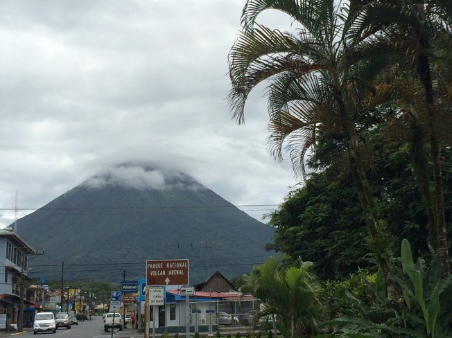 Driving into La Fortuna