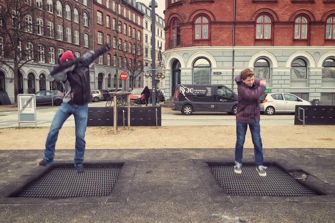 Trampolines in Copenhagen, Denmark